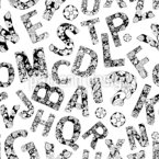 Verziertes Alphabet Nahtloses Vektormuster
