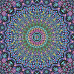 Mandala aus Punkten Nahtloses Vektormuster