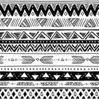 Aztec Stripes Seamless Vector Pattern Design