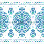 Frosty Damask Border Vector Ornament