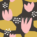 Tulip Abstraction Seamless Vector Pattern Design