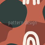 Organisch Abstract Rapportiertes Design
