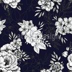 Von Hand Gezeichnete Blumen Nahtloses Vektormuster