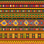 Ethnic Africa Art Seamless Vector Pattern Design