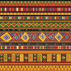 Ethnisches Afrika Kunstwerk Nahtloses Vektormuster