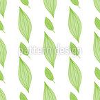 Folhas Simples Design de padrão vetorial sem costura