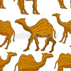 Woodcarved Camel  Seamless Vector Pattern Design