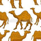木雕骆驼 无缝矢量模式设计