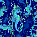 Crazy Seahorse Repeat Pattern