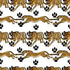 Jagdender Gepard Nahtloses Muster