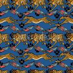 Gepard Und Feder Vektor Muster