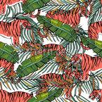 Tiger Und Farn Vektor Design