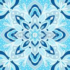 Abstrakter Eiskristall Nahtloses Muster