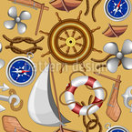 Nautical Marine Objects Seamless Vector Pattern Design