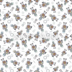 Play Robots Seamless Vector Pattern Design