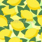 Reife Zitronen Nahtloses Vektormuster