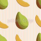 Mango-Streifen Nahtloses Vektormuster