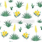 Flores do Deserto Design de padrão vetorial sem costura