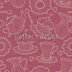 Hen Party Red Seamless Vector Pattern Design