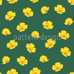 Simple Poppies Vector Pattern