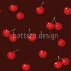 Kirschen Auf Schokolade Nahtloses Vektormuster