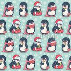 Geschenk-Pinguine Nahtloses Vektormuster