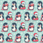 Gift Penguins Repeating Pattern