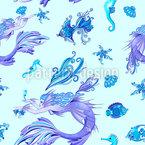 Mystische Meerjungfrau Vektor Muster