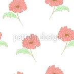 Gekritzelte Mohnblumenblume Vektor Design
