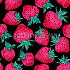 Leuchtende Erdbeeren Nahtloses Vektormuster