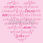 Declaration Of Love Seamless Vector Pattern Design