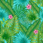Plantas entrelaçadas Design de padrão vetorial sem costura