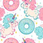 Donuts Und Einhörner Vektor Design