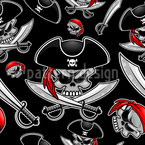 Pirate Skulls Repeating Pattern