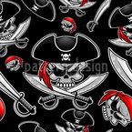 Piraten-Schädel Rapportiertes Design