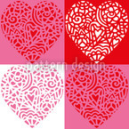 Hearty Red Seamless Vector Pattern Design