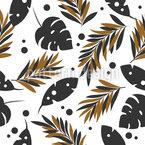 Gefallene Blätter Nahtloses Muster