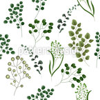 Tropischer Eukalyptus Rapportiertes Design