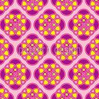 Siebziger-Blume Nahtloses Vektormuster