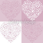 Hearty Lilac Vector Pattern