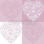 Herzig Lila Vektor Muster