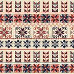 Geometrische Palästinensische Bordüre Nahtloses Vektor Muster
