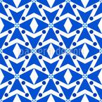 Rhombic Crosses Seamless Vector Pattern Design