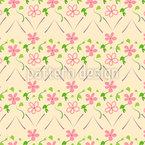 農民の花のテンドリル シームレスなベクトルパターン設計