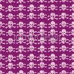 Crânios elegantes Design de padrão vetorial sem costura