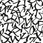 Alle Buchstaben Nahtloses Vektormuster