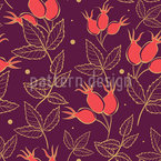 Autumnal Rose Hip Vector Ornament