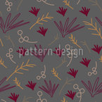Cute Plant Parts Pattern Design