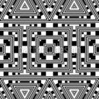 Monochrome Geometrische Formen Nahtloses Vektormuster