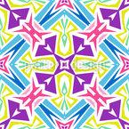 Geometrisches Kaleidoskopisches Mandala Nahtloses Vektormuster